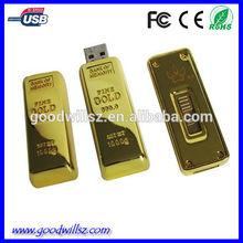 4/8GB USB Stick Gold bar usb flash drive factory price,usb pen drive sample available,usb 2.0 driver good quality CE/ROHS