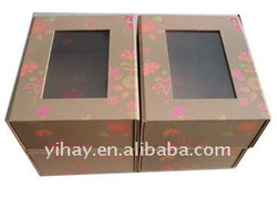 Elegant Paper Gift Window Boxes