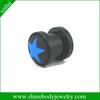 acrylic body jewelry beautiful ear plug with blue star