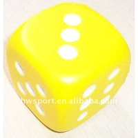 pu dice shaped stress ball