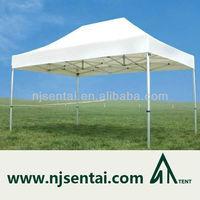 4x6M (13x20') Top Quality Waterproof 100% PVC Aluminum Frame Popup White Canopy Outdoor Use Portable Folding Beach Tent Gazebo