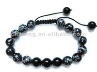 Fashion mens bead bracelet gemstone bead shamballa bracelet