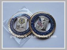 Die Struck Brass - Empty Custom Challenge Coins for Military used - Diamond Edge