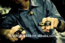 anneau sculpture corne de buffle