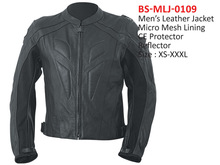 Specialized Men`s Leather Motorcycle Jacket