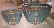 glazed ceramics pots, ceramics flower planters