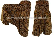 INDIAN ALLADIN HAREM YOGA MEN WOMEN TROUSER GYPSY BOHO HIPPIE BARMERI PANTS