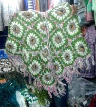 ladies winter ponchos full Flowers woolen