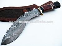 Hand Made 14 Inches Damascus Steel Kukri Hunting Knife Pakistan