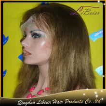 Soft brazilian silky straight human hair wigs white women