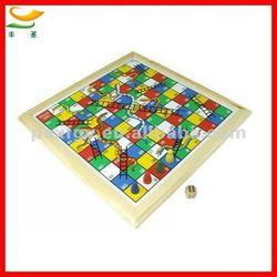 wooden snake and ladder board games set