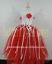 2014 new arrival ! baby girl fashion tutu summer chiffon Wedding Dresses children flower red dress