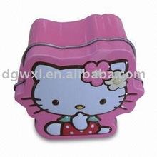 Cat-shaped tin box