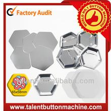 hexagon metal pin badge