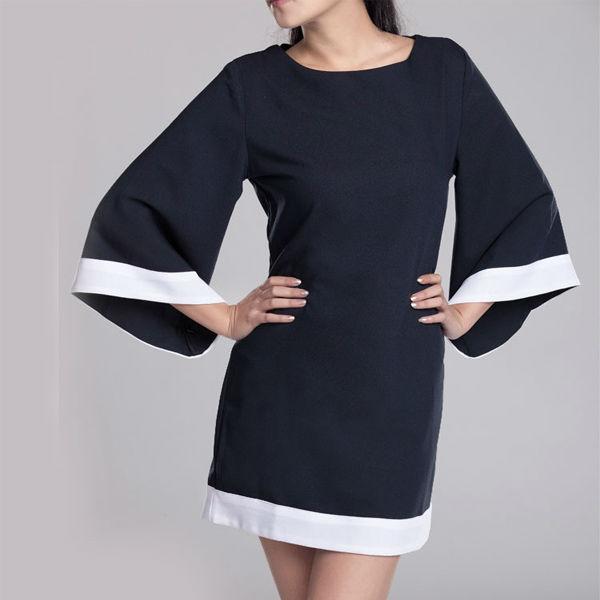 Платье с рукавом кимоно