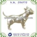 Plateado artesanía estatua de perro