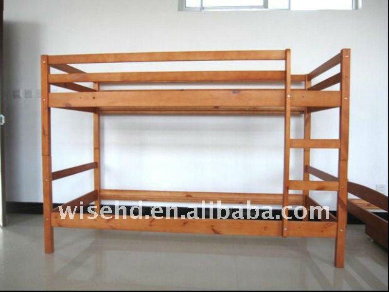 lit double superpose en bois. Black Bedroom Furniture Sets. Home Design Ideas