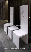 Corian built customer sized luxury waiting bench TC-12