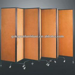 modern high grade fabric hotel decorative folding screen
