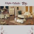 Luis francés de muebles de estilo - tallado a mano de madera maciza cama
