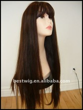 Yaki straight Glueless Full lace wig &Front Lace wig Remy Brazilian Virign human hair