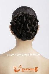 Small curly hair buns, kanekalon hairpieces buns for black hair