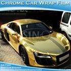 Air Bubble Free Chrome Gold Car Wrap Vinyl Film