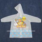 Waterproof cheap vinyl children eva clear raincoat