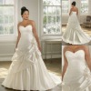 PW-A046 Elegant Sweetheart Taffeta Wedding Dresses For Full Figure