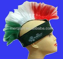 Fancy mohawk wig with carsberg logo sport mohawk wig promotion wig