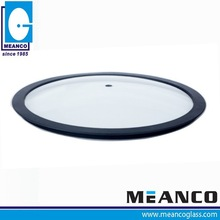 Silicon Ring oven and microwave safe Tempered Glass pot Lid for cookware