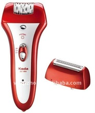 Electrical Rechargeable 2 Heads Ladies Epilator Shaver