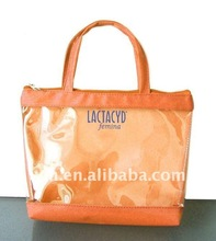 Hot handle style PVC shopping tote bag for promotion