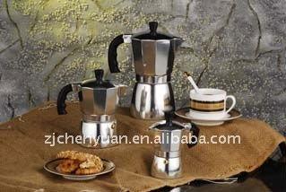 Aluminum espresso coffee maker moka pot