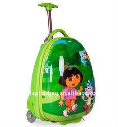 16 inch eggshell abs+pc cute kids trolley school bags for girls