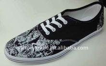 Hot Sale Men PVC Injection Canvas Sneakers V-SHSX701