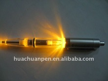 LED light twist ball pen with customized logo