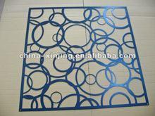 CNC perforated wall board /decorative aluminum panel