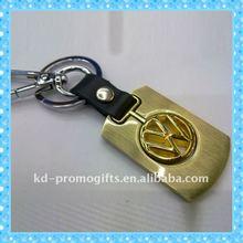 Cheap Custom Metal Car Logo Keychain Gold Plated Car Key Chains