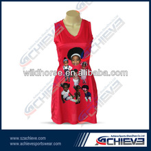 2012 the best hot custom sublimated Netball dress