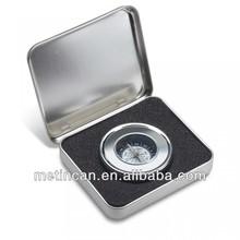 rectangular compass tin box package