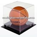 transparente de acrílico exhibición de baloncesto de la caja