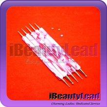 Brand new 5pcs two way nail dotting pen set