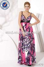 fashion night dress 2012 designs dress ong bridesmaid dress with strap