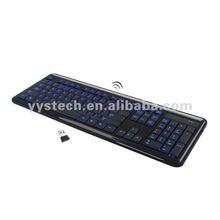 LED Light 2.4Ghz Wireless Keyboard, led illuminated Keyboard