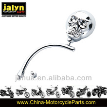 Universal Motorcycle Rear Mirror with Silver Skull shape