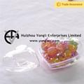 novo design de plástico transparente de natal bolas