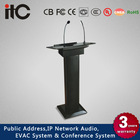 ITC T-6236 Wood Digital Podium with Gooseneck Mic and Column Speaker