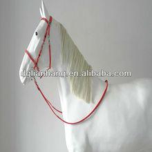 Flexible PVC horse rein and bridle set