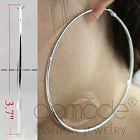 Hot sell large fashion brass hoop earrings